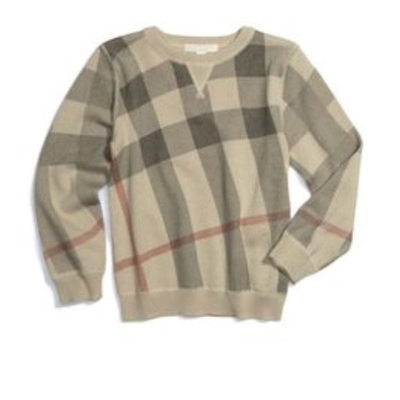 1584a32dcc00c Burberry Other - BURBERRY boys check sweater almost new sz 6Y